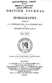 The British Journal of Homoeopathy: Volume 24