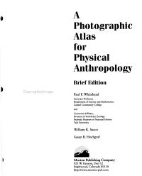 A Photographic Atlas for Physical Anthropology PDF