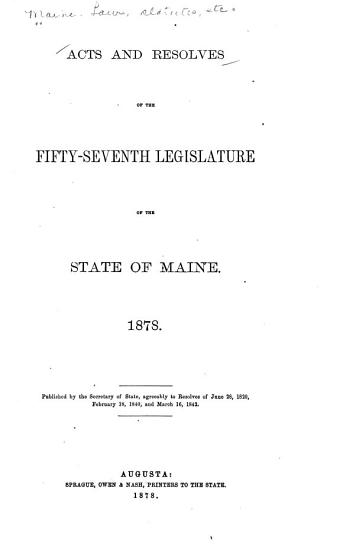 Acts and Resolves as Passed by the Legislature PDF