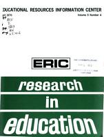 Research in Education PDF