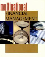 Multinational Financial Management PDF