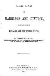 The Law of Marriage and Divorce: As Established in England and the United States