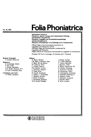 Folia Phoniatrica PDF