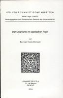 Der Gitanismo im spanischen Argot PDF