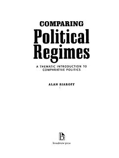 Comparing Political Regimes Book