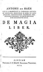 Antonii de Haen ... De magia liber