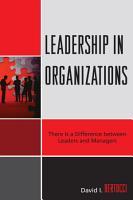 Leadership in Organizations PDF