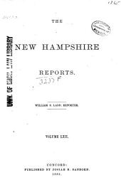 The New Hampshire Reports: Volume 62