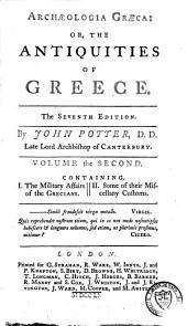 Archaeologia Graeca Or the Antiquities of Greece: Volume 2