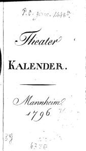 Taschenbuch fürs Theater: 1796