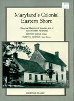 Maryland s Colonial Eastern Shore PDF