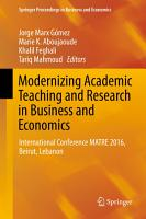 Modernizing Academic Teaching and Research in Business and Economics PDF