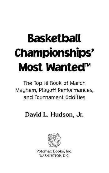 Basketball Championships  Most Wanted    PDF