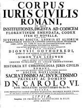 Corpus iuris civilis Romani: Page 1
