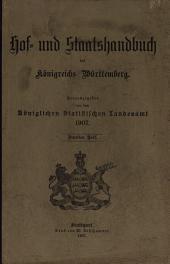 Staatshandbuch für Württemberg: Teil 2