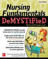 Nursing Fundamentals DeMYSTiFieD PDF