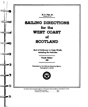 Sailing Directions for the West Coast of Scotland