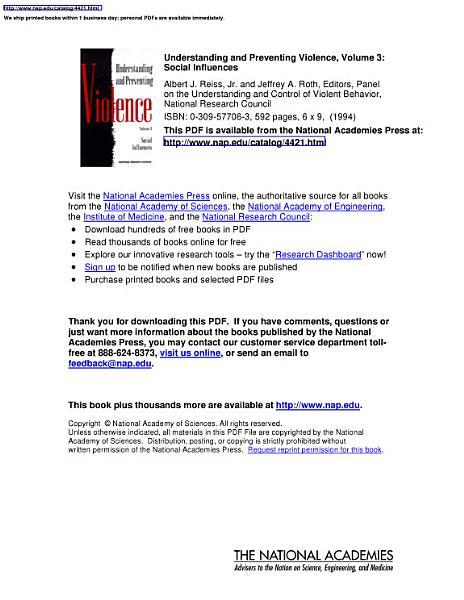 Download Understanding and Preventing Violence  Volume 3 Book