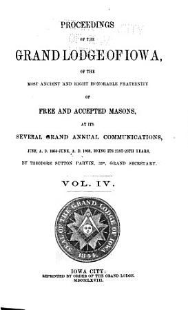Proceedings of the Grand Lodge of Iowa PDF