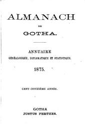 Nouvel almanach du corps diplomatique: ancien Almanach de Gotha