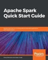 Apache Spark Quick Start Guide PDF