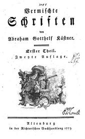 Vermischte Schriften: Bände 1-2