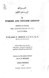 A Turkish and English Lexicon PDF