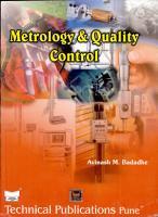 Metrology And Quality Control PDF