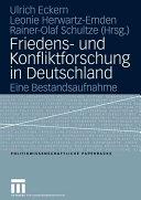 Friedens  und Konfliktforschung in Deutschland PDF