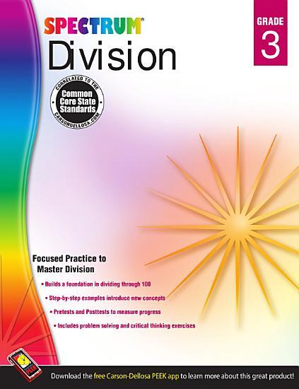 Division Workbook  Grade 3 PDF