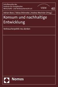 Konsum und nachhaltige Entwicklung PDF