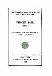 The Novels and Stories of Iván Turgénieff: Volume 8
