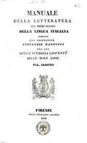 Manuale della letteratura del primo secolo della lingua italiana compilato [da] Vincenzio Nannucci: Volume 2