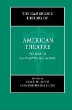 The Cambridge History of American Theatre PDF