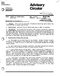 Summary of Airworthiness Directives PDF