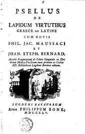 De lapidum virtutibus Graece ac Latine