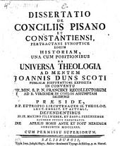 Diss. de conciliis Pisano et Constantiensi