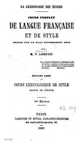 Cours lexicologique de style: partie de l'élève ...