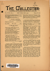 The Collector: A Monthly Magazine for Autograph and Historical Collectors, Volume 18, Issue 7