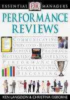 DK Essential Managers  Performance Reviews PDF