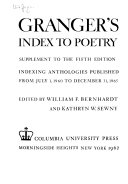 Granger S Index To Poetry Book PDF