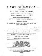 The Laws of Jamaica: 1792-1799