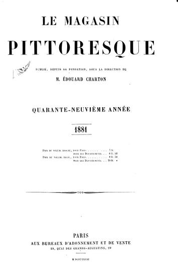 Le Magasin pittoresque PDF