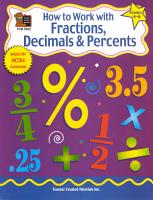 How to Work with Fractions  Decimals   Percents PDF