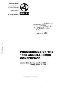 The Proceedings of the     Annual Health Care Information   Management Systems Conference PDF