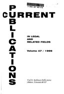 Current Publications in Legal and Related Fields PDF