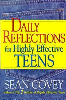Daily Reflections For Highly Effective Teens PDF