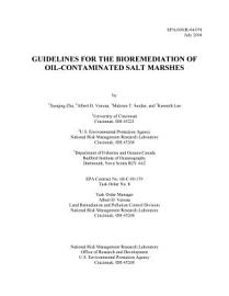 Guidelines For The Bioremediation Of Oilcontaminated Salt Marshes Xueqing Zhu  Et Al