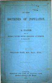 On some doctrines of population, a paper: Volume 11