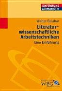 Literaturwissenschaftliche Arbeitstechniken PDF